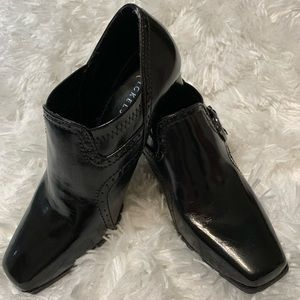Nickels Sz 8.5M Black Vegan Leather Heeled Booties